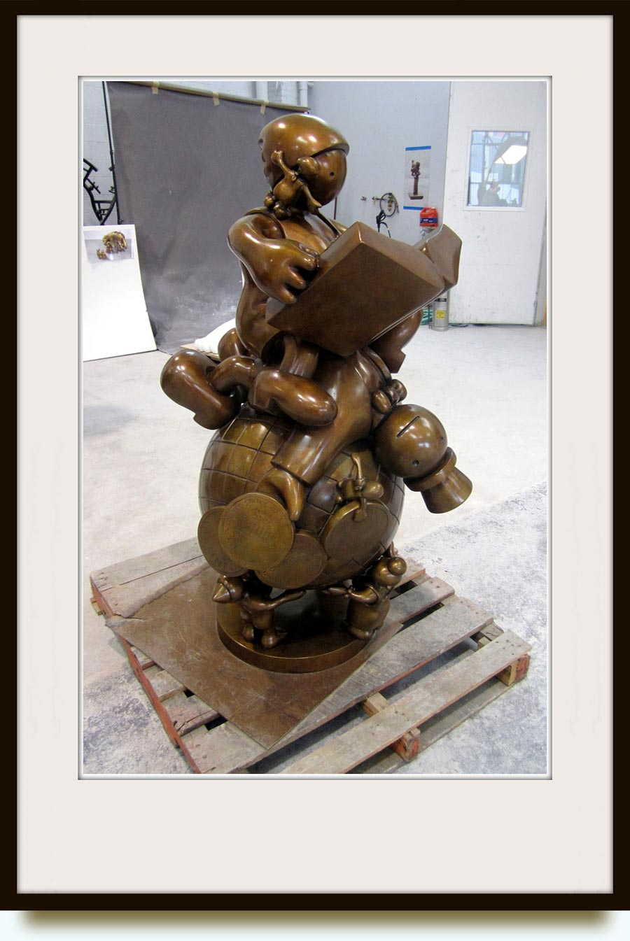 Tom Otterness (b. 1952 in Wichita, Kansas, US). The Lesson. 2010. Bronze. Tom Otterness Studio, Open House New York (OHNY).