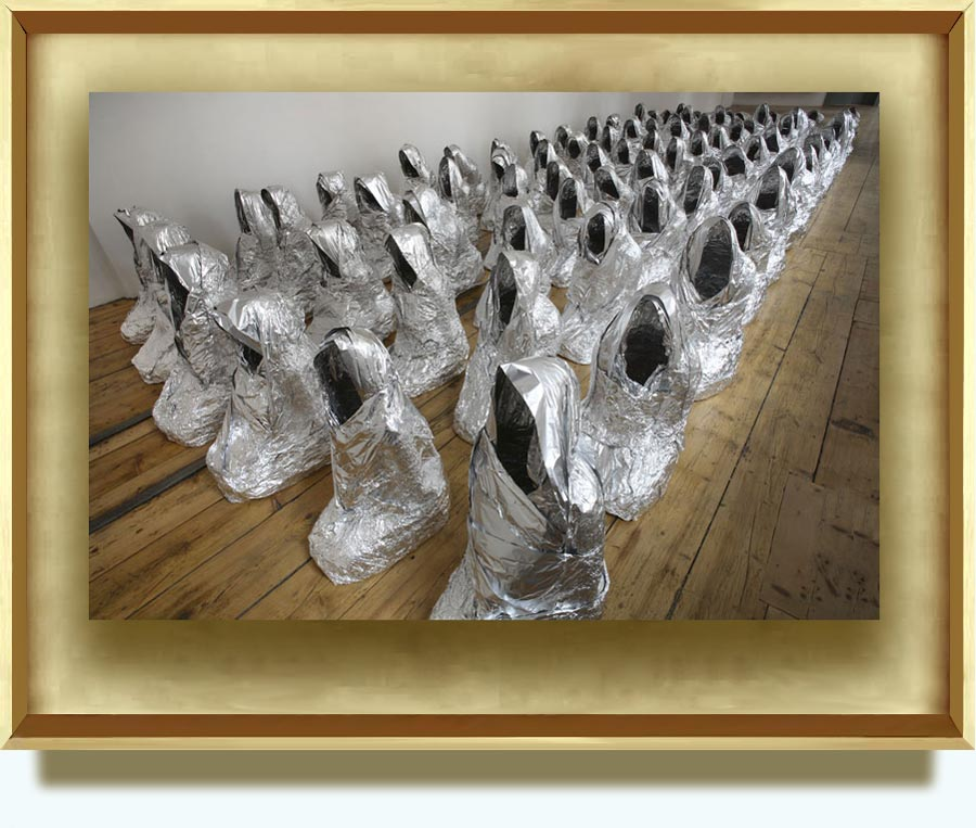 Kader Attia (b. 1970 in Dugny (Seine Saint-Denis). Lives and works in Paris). Ghost. 2007. Aluminium foil.