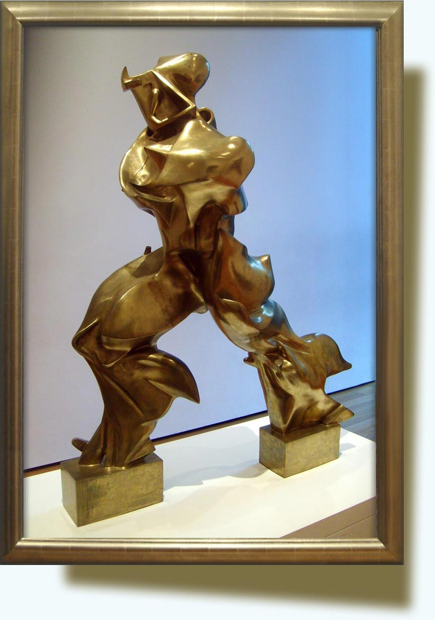 Umberto Boccioni (1882–1916). Unique Forms of Continuity in Space. 1913, bronze. Museum of Modern Art (New York City).
